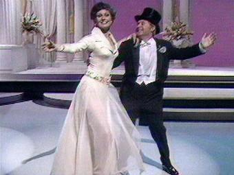 Angela Rippon and Ernie Wise - Christmas 1976